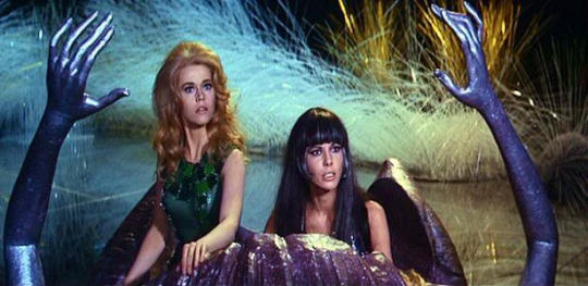 Jane Fonda and Anita Pallenberg in Barbarella (1968)