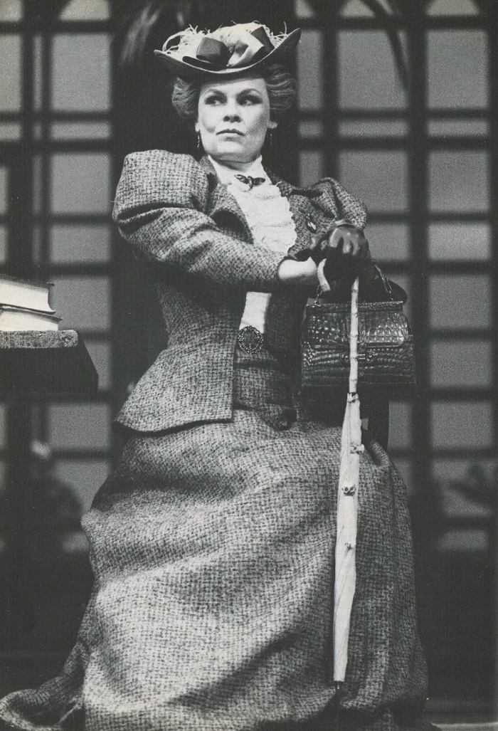 Lady Bracknell (Judi Dench) in the famous comedy by Oscar Wilde 'The Importance of Being Earnest'