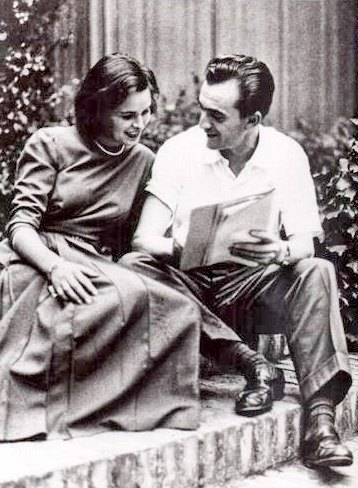 Luchino Visconti and Lucia Bose. 1949