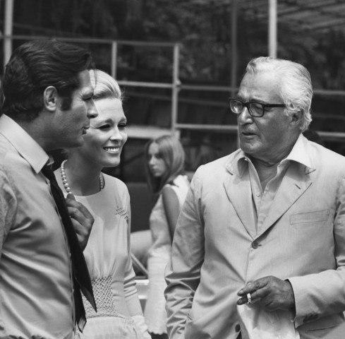 Marcello Mastroianni, Faye Dunaway & Vittorio De Sica in 1968