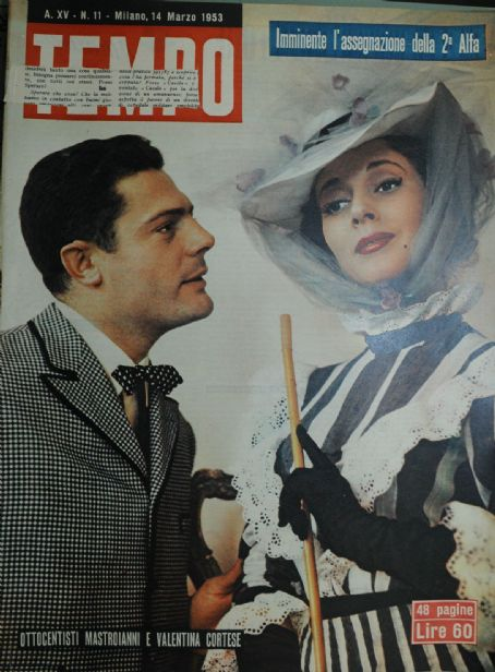 Marcello Mastroianni and Valentina Cortese