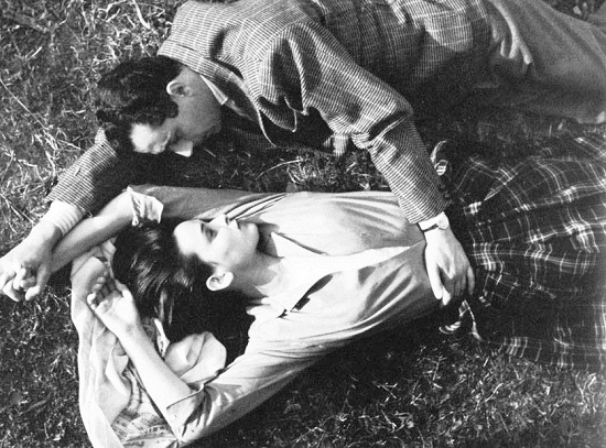 Michelangelo Antonioni and Bose in Cronaca di un amore, 1950. Beauty Icon Italian actress Lucia Bose