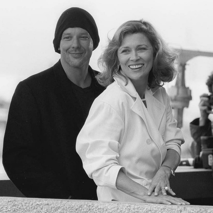 Mickey Rourke and Faye Dunaway in Cannes, 1987