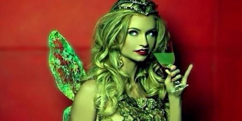 Mindy Robinson in The Green Fairy, 2016 film. US, Britain, Sweden. Symbolic Green color in British folklore