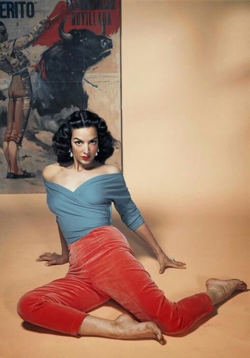 Model and actress Maria Felix