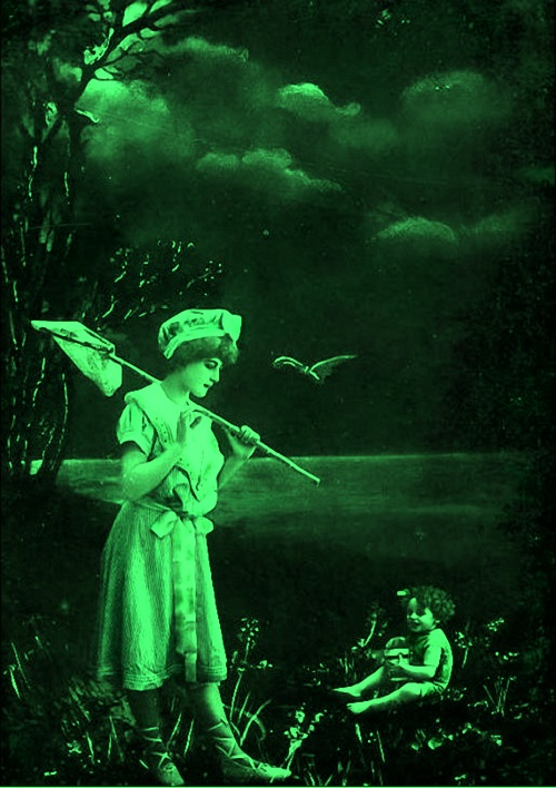 Mythical green children in British folklore