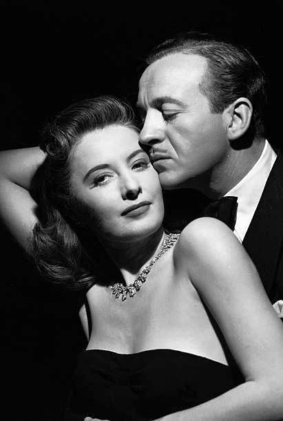 Niven and Stanwick in a promo to the melodrama 'Another Love' (1947)