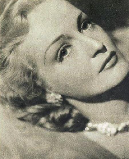 Old photo card Camilla Horn