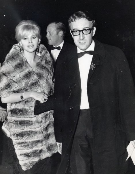 Peter Sellers and Britt Ekland, 1964