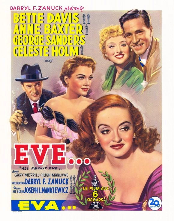 Poster – All About Eve (1950) Drama, Starring Bette Davis and Anne Baxter