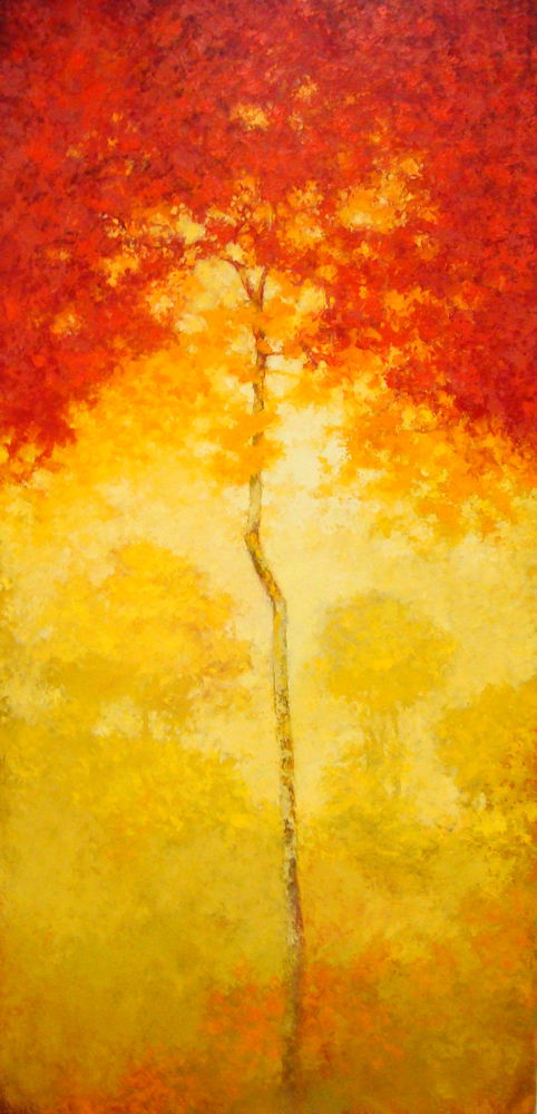 Red maple. Painting by Elena Zlata