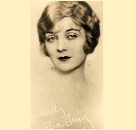 Retro card, Alice Terry
