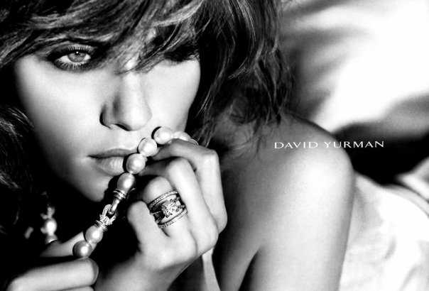 Ring and necklace by David Yurman, Amber Valletta