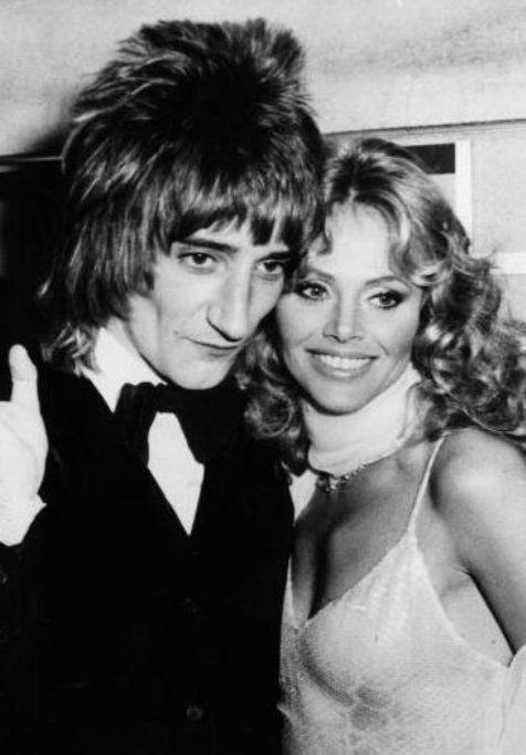 Rod Stewart and Britt Ekland. 1975