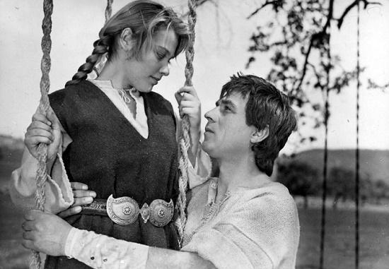 Scene from the film 'Kaloyan', 1962