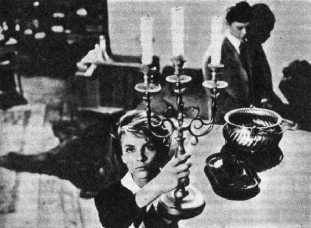 Scene from the film 'Stranger'. 1964