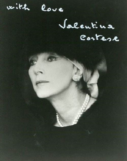 Signed 'with love', Beautiful Italian actress Valentina Cortese