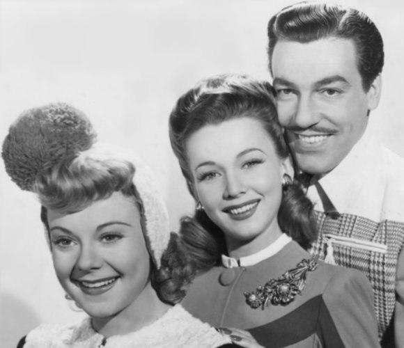 Sonja Henie, Carole Landis, Cesaro Romero, 1940s