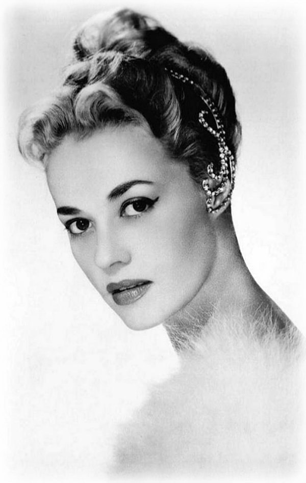 Stunningly beautiful French actress Jeanne Moreau