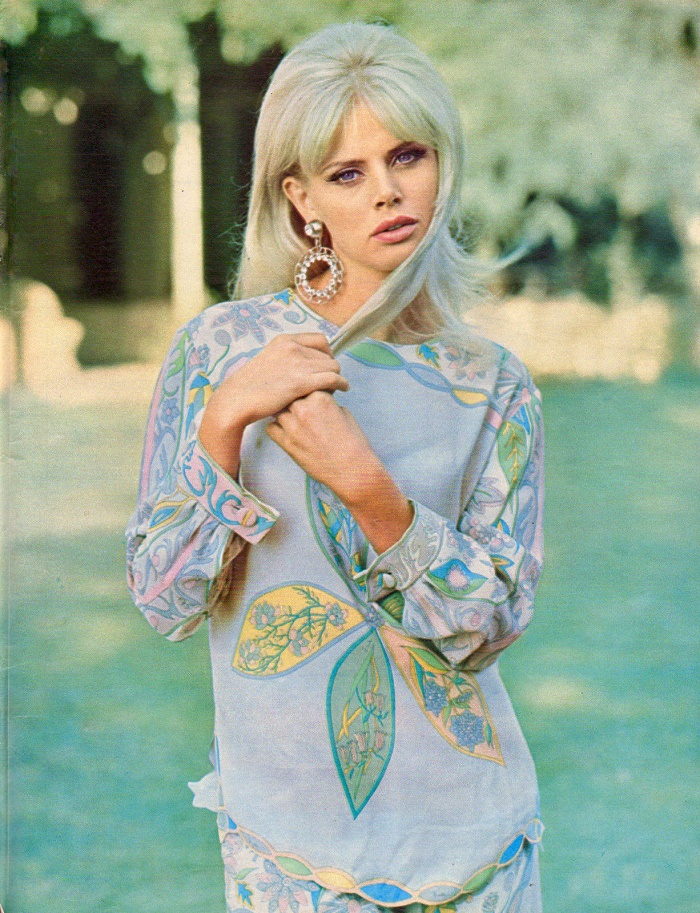 Stylish and beautiful Britt Ekland, 1965
