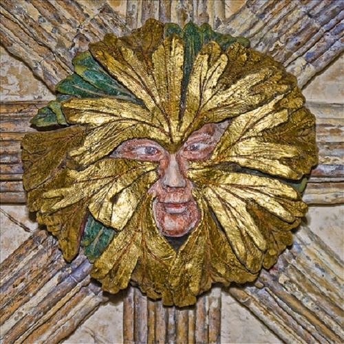 The Green man. Norwich Cathedral