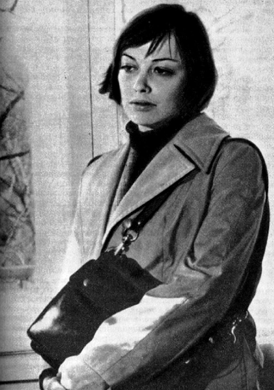 The beginning of the day, 1975. Beautiful Bulgarian actress Tzvetana Maneva
