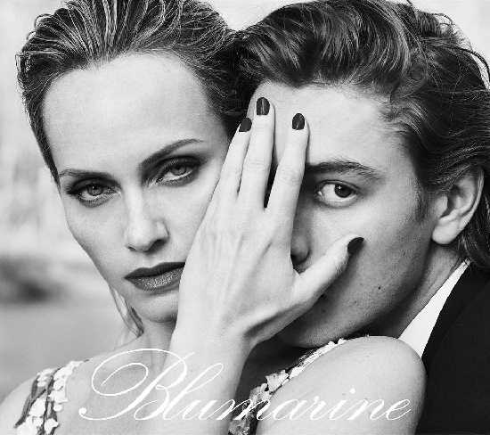 The faces of Blumarine Srping Amber Valletta and Phillip Mayberry