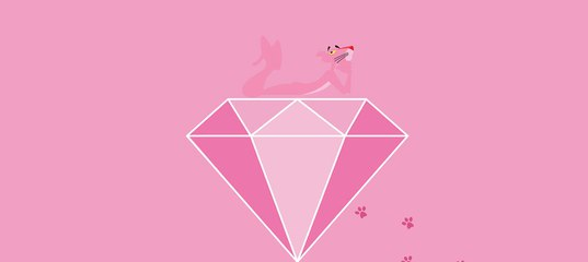 The symbol of the holiday – pink diamond