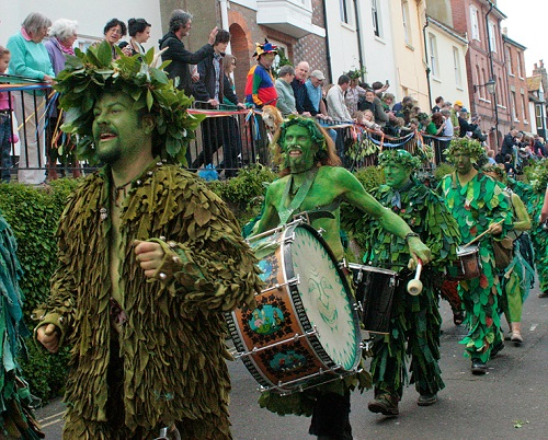 Traditional Jack In The Green Festival. Photo source mikeharding.co.uk