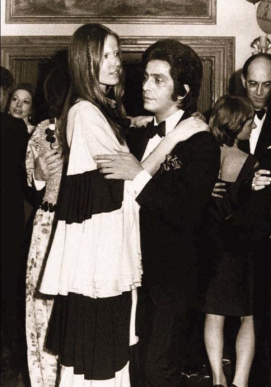 Veruschka with the fashion designer Valentino, 1970