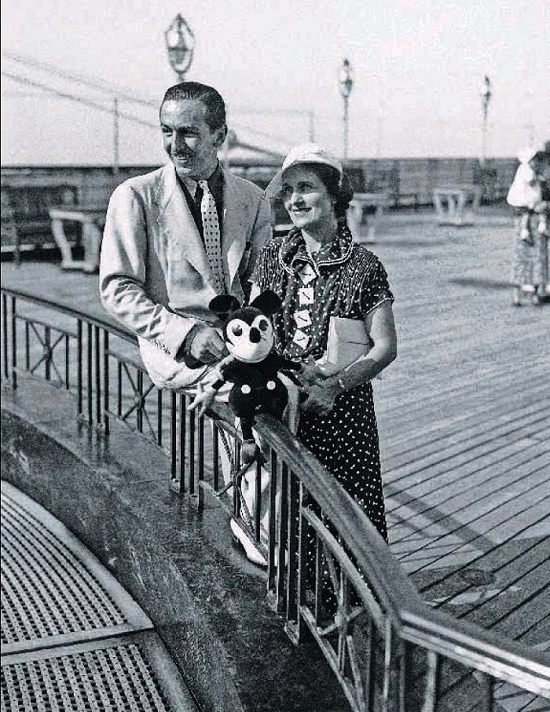 Walt Disney was a great connoisseur of female beauty, and his wife Lilly always had to be on the alert