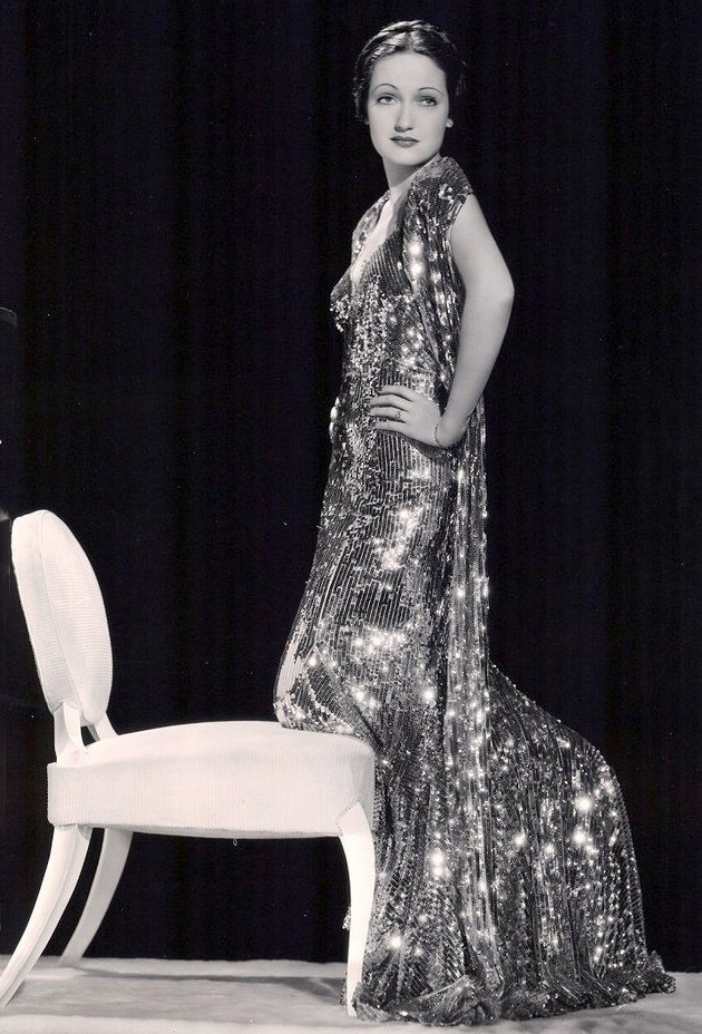 Wearing sparkling dress Dorothy Lamour 1936