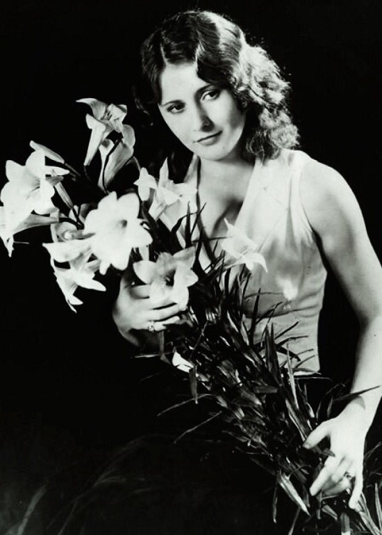 White lilies for Barb. 1940s Hollywood actress Barbara Stanwyck (July 16, 1907 – January 20, 1990)