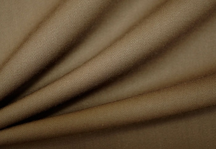 Woolen textile oif brown color