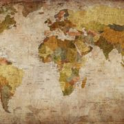 World Map of brown color