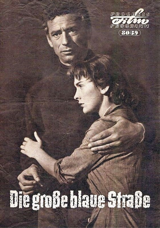 Yves Montand and Alida Valli in 'The Wide Blue Road' (1957)
