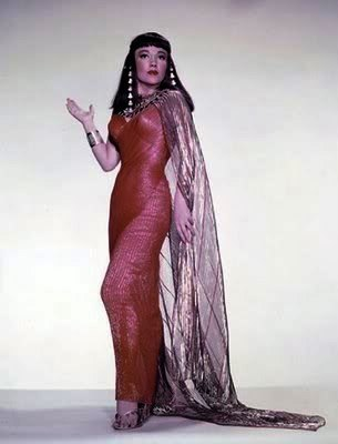 as Queen Nefretiri of Egypt in Cecil B Demille's 'The Ten Commandments' (1956)